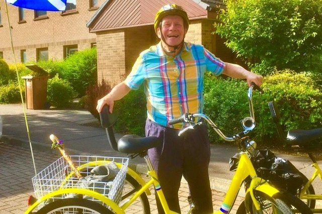 Joe Goldblatt's new tricycle comes with seven gears, helping to smooth out some of Edinburgh's hills