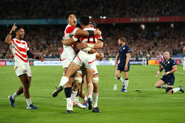 Japan last played Scotland at the 2019 Rugby World Cup in Yokohama, winning 28-21. Picture: Stu Forster/Getty Images