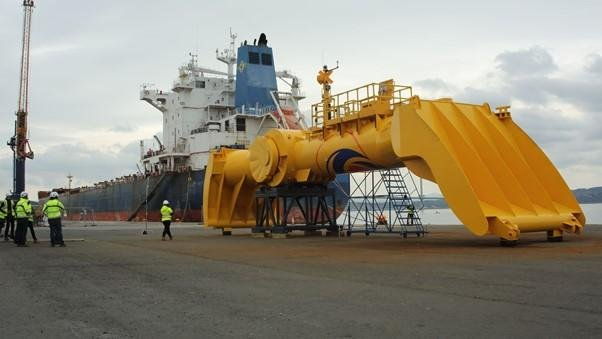 The Blue X device is revealed at Rosyth