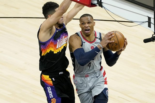 Washington Wizards guard Russell Westbrook has had a fine season. Picture: Matt York/AP