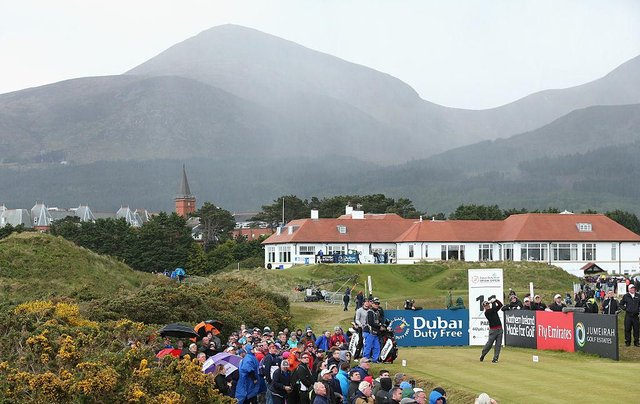 Royal County Down, where the Dubai Duty Free Irish Open Hosted by the Rory Foundation was held in 2015, has received the biggest golf allocation from Sport NI's Sports Sustainability Fund. Picture: Andrew Redington/Getty Images.