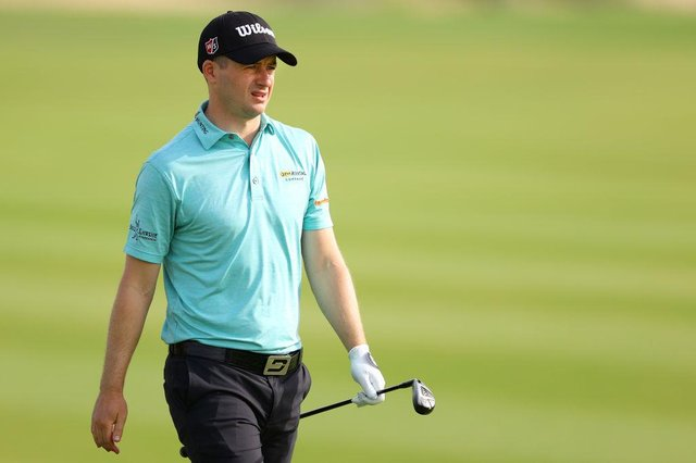 David Law looks on after playing his second shot on the 13th hole during the first round of the Commercial Bank Qatar Masters at Education City Golf Club in Doha. Picture: Richard Heathcote/Getty Images.