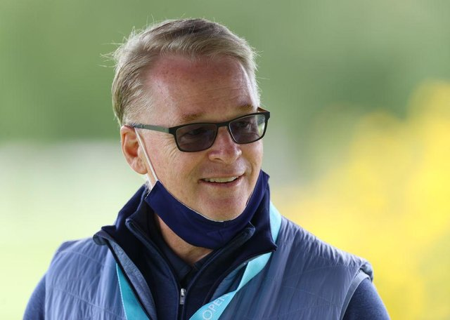 European Tour chief executive Keith Pelley during the Hero Open at Marriott Forest of Arden last August. Pictured: Richard Heathcote/Getty Images.