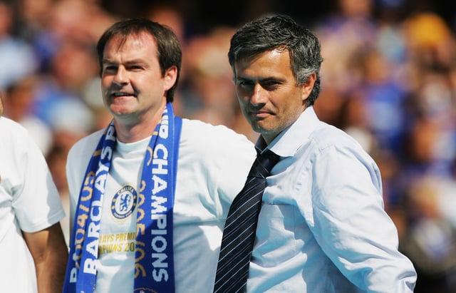 Current Scotland manager Steve Clarke, pictured left, alongside then-Chelsea boss Jose Mourinho in 2006.