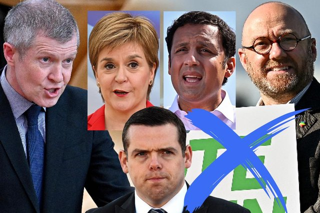 The leaders of each major party are out campaigning before the Scottish Parliament election next week as polls predict the result (Credit: Mark Hall)