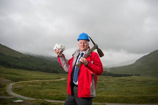 Richard Gray has overseen the development of the Cononish mine, which produced its first gold in 2020, for more than six years. He is being replaced this week as CEO by Phillip Day. Picture: John Devlin