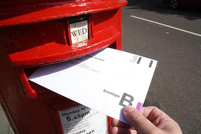 More than one million people have registered to vote by post.