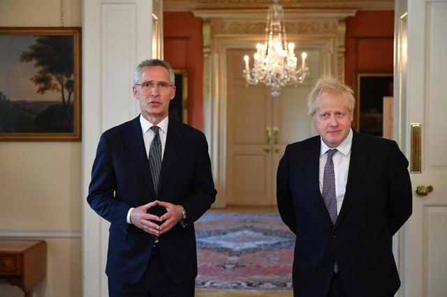 NATO secretary general Jens Stoltenberg with Prime Minister Boris Johnson (Getty Images)