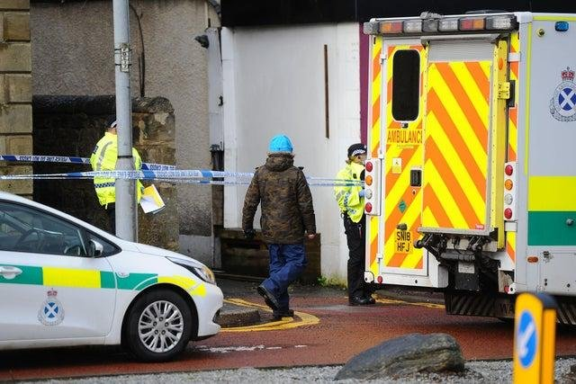 An area between Grahams Road Dental Surgery and Marley's Artisan Chocolates was taped off on Tuesday morning.