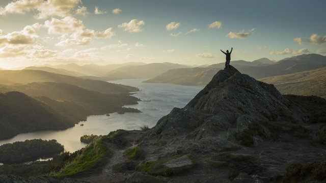 Ben A-an in the Loch Lomond and Trossachs National Park with views over Loch Katrine (Picture: VisitScotland).