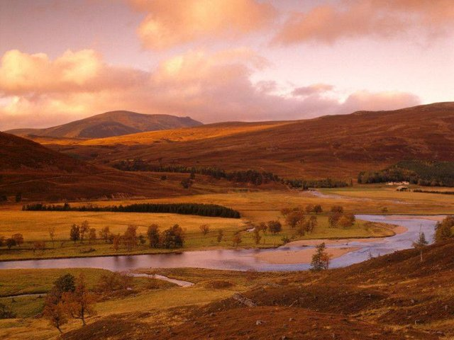 The Cairngorms in Scotland.