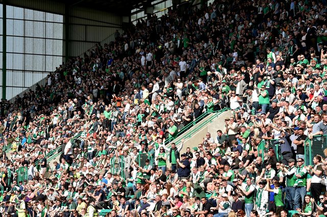 A review of fans being able to return to football stadiums will likely take place month. Picture: SNS