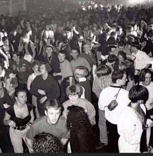 The rave has landed: When around 5,000 ravers packed the terminal building at Prestwick Airport with it claimed the parties helped to fund the building of the airport rail link to Glasgow. PIC: Ricky McGowan/Streetrave.