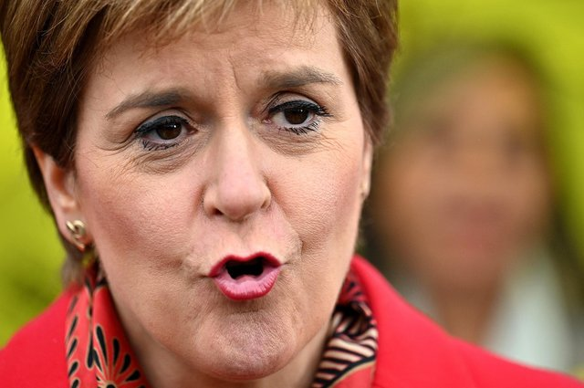 First Minister Nicola Sturgeon warned last night that any attempt by Westminster to legally block a referendum would be a powerful argument for independence. Picture: Jeff J Mitchell/Getty