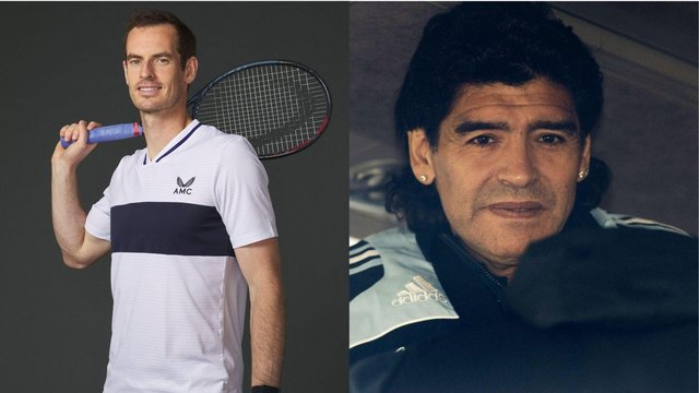 Andy Murray reveals a note the football icon left for him in which Mardona hopes the Scottish tennis star would become number one.