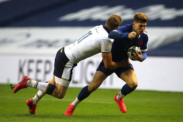 Matthieu Jalibert is one of only two France players from the starting XV against Scotland to retain his place in the side to face Italy. Picture: Ian MacNicol/Getty Images