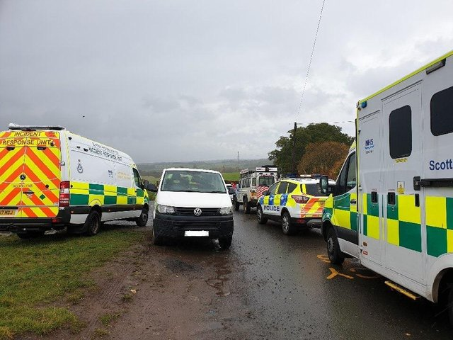 Picture showing the scene at Devil's Pulpit where an ambulance was unable to access an injured person picture: Police Scotland