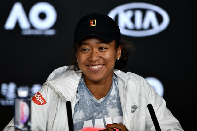 Japan's Naomi Osaka speaks at a press conference ahead of the Australia Open tennis tournament in Melbourne on January 18, 2020.