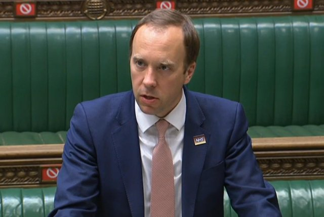Health Secretary Matt Hancock made a statement on the Indian variant in the House of Commons on Monday evening