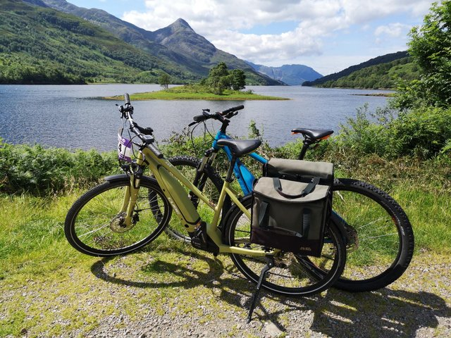 Bikes and ebikes can be hired to explore local routes such as the the National Cycle Network Route 78 (NCN 78) also known as The Caledonia Way.