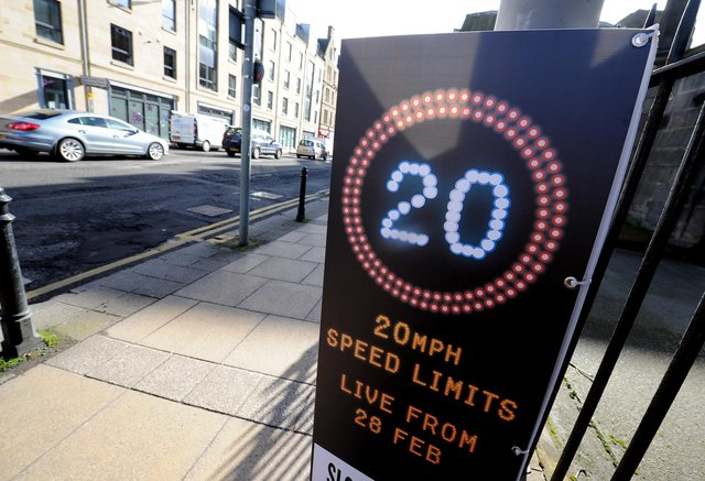 20mph limits are common elsewhere in Scotland. Picture: Lisa Ferguson.
