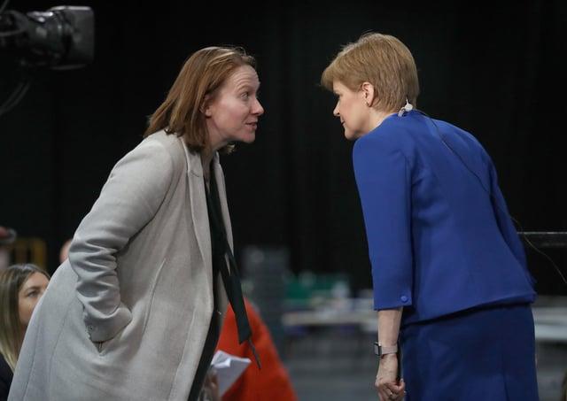 First Minister Nicola Sturgeon with her chief of staff Liz Lloyd.