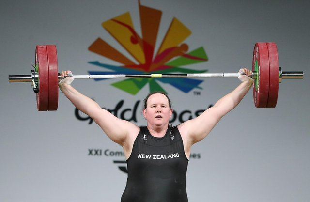 Laurel Hubbard of New Zealand competes in the women's +90kg final during the Gold Coast 2018 Commonwealth Games (Picture: Scott Barbour/Getty Images)