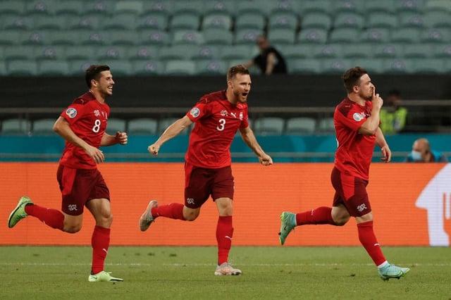 Switzerland defeated Turkey. (Photo by VALENTYN OGIRENKO/POOL/AFP via Getty Images)