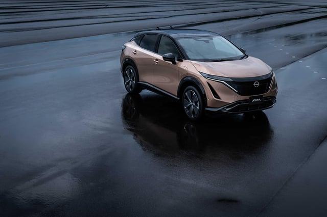 Nissan describes the Ariya as a 'coupe crossover'