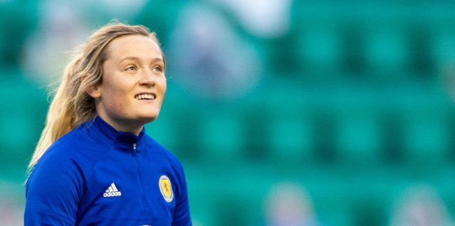 Chelsea and Scotland star Erin Cuthbert will be hoping to start tonight in Wales. Photo by Mark Scates / SNS Group