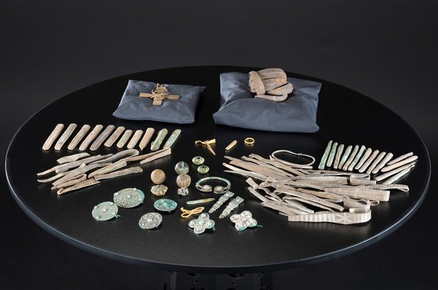 pieces from the 10th-century treasure trove, known as the Galloway Hoard, which was found by a metal detectorist in a field in Dumfries and Galloway in 2014 and acquired by NMS in 2017, will go on display in an exhibition next year.