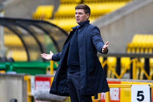 Steven Gerrard witnessed his Rangers side fail to make it four wins from four at the start of the season. Picture: SNS