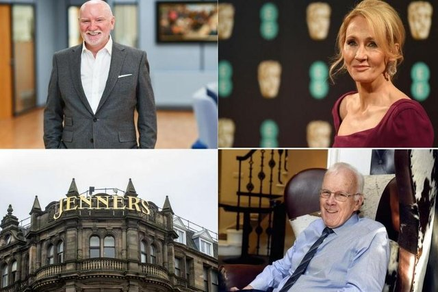 JK Rowling, Anders Povlsen and Sir Ian Wood are among the richest people in Scotland according to the latest Sunday Times Rich List.