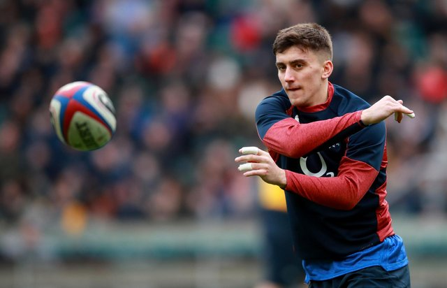 Cameron Redpath during a training session with England at Twickenham last year. The centre has now switched to Scotland. Picture: Adam Davy/PA Wire