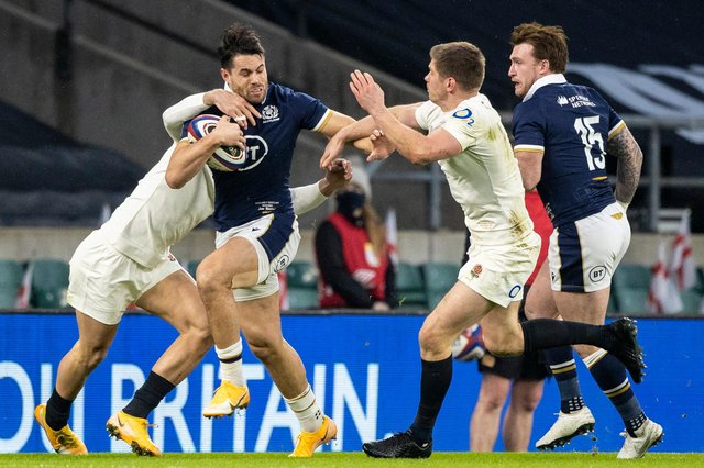 Sean Maitland was outstanding in the win over England and should return to the team against Ireland on Sunday. Picture: Craig Williamson/SNS