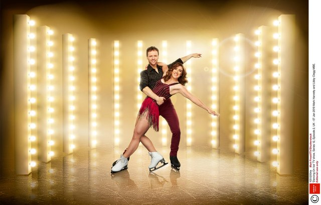 Mark Hanretty and Libby Clegg in last year's series of Dancing on Ice.