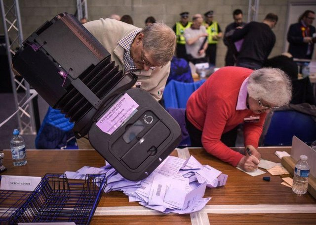The count for the Scottish Parliament election in 2016 (SWNS)