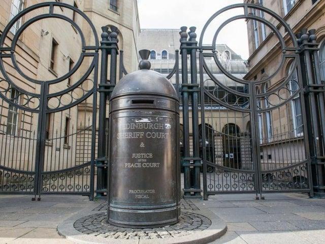 Edinburgh Sheriff Court, where two staff tested positive