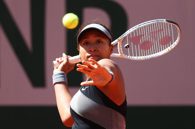 Naomi Osaka at the French Open before her shock decision to withdraw from the tournament complaining of media negativity.