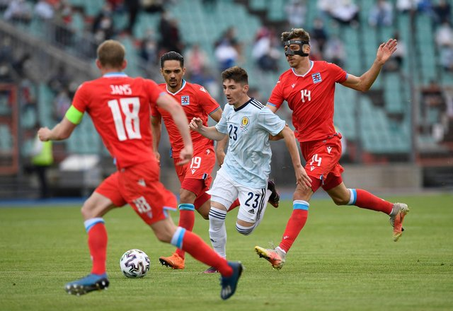 Scotland midfielder Billy Gilmour impressed in his time on the pitch in the 1-0 friendly win over Luxembourg. (Photo by JOHN THYS / AFP) (Photo by JOHN THYS/AFP via Getty Images)