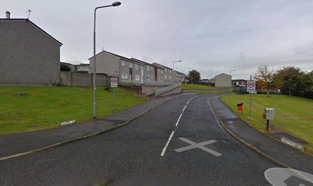 The 19-year-old was hospitalised with stab wounds following the attack in Chapel Road in Kirkcaldy. Pic: Google