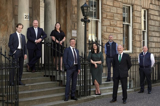 From left to right -  Brogan Grier, Neil MacFarlane, Kerri McGuire, Calum Campbell, Pamela Mathieson, Andrew Daly, Tom Meney and Daniel Little. Picture: Stewart Attwood