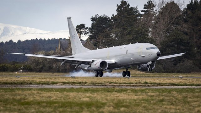 AP-8A Poseidon plane. A military contract worth £233.5 million to maintain Poseidon submarine hunting aircraft has been announced by the Ministry of Defence