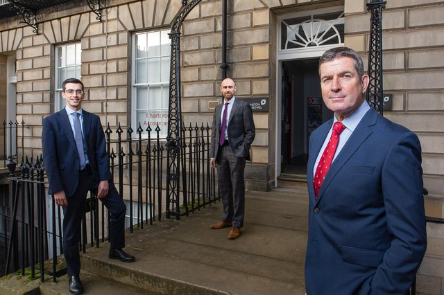 Gavin Paterson, Barry Masson and Mark Stewart of accountancy and business advisory firm Johnston Carmichael. Picture: Nick Mailer