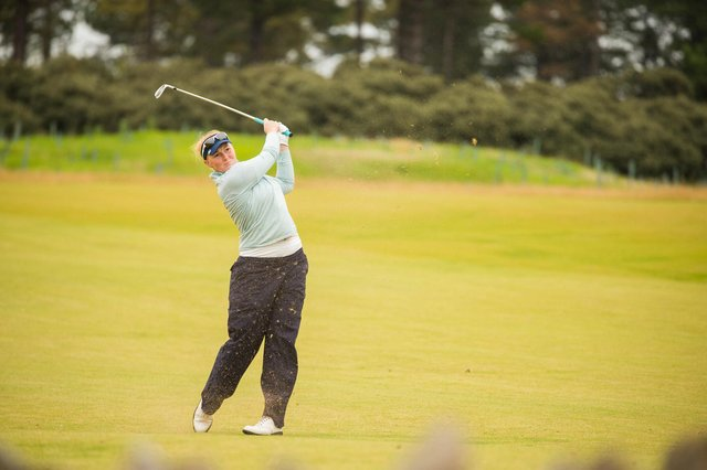 Kylie Henry in action during the third round of the Aberdeen Standard Investments Ladies Scottish Open at The Renaissance Club. Picture: Tristan Jones
