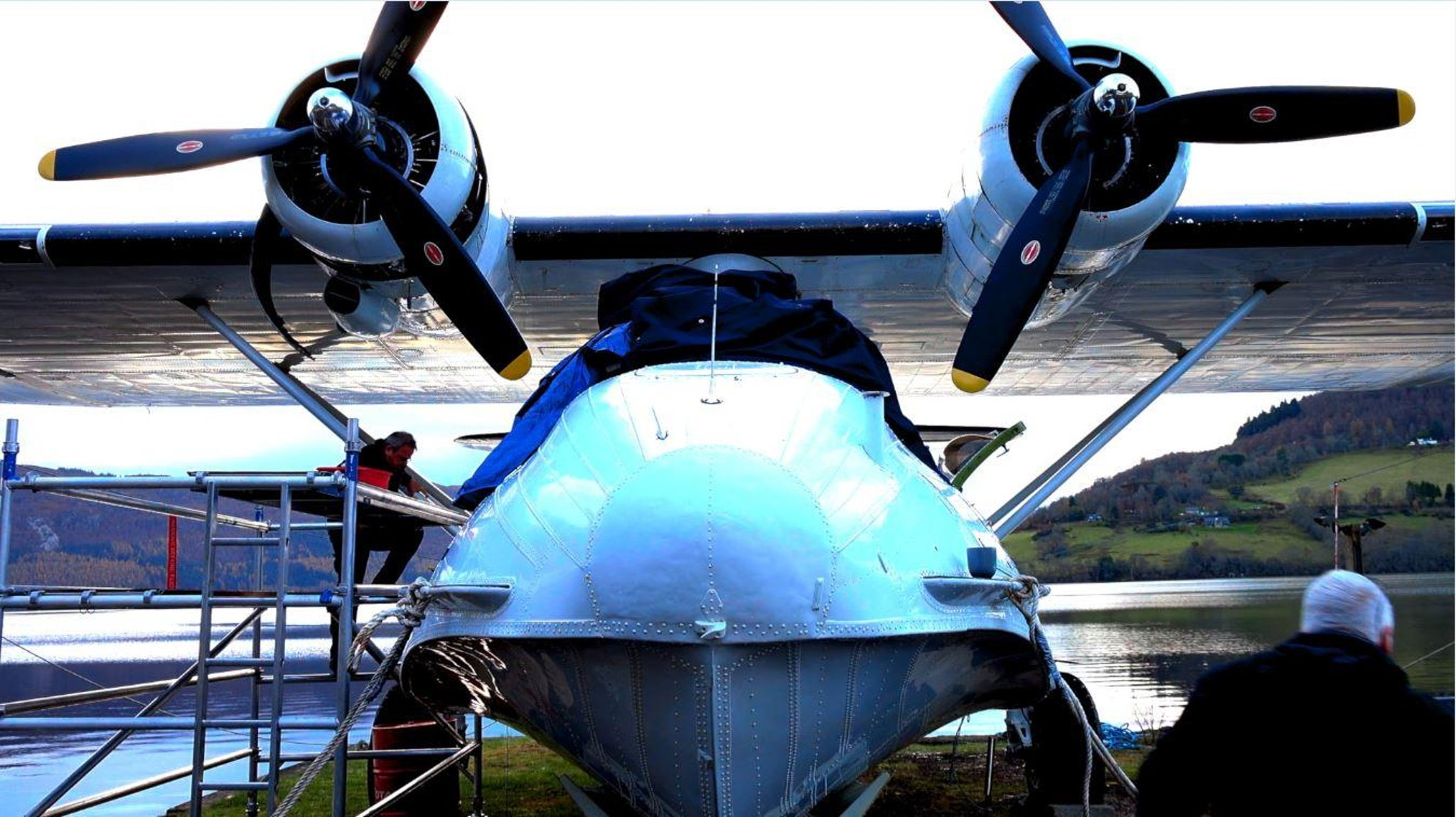 Documentary captures dramatic rescue of rare World War II seaplane on Loch Ness