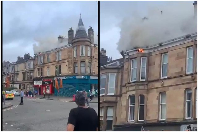 Residents evacuated as firefighters tackle major blaze in Glasgow property