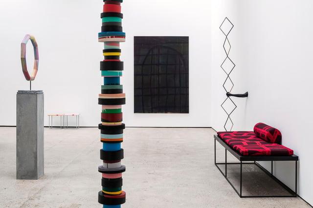 Installation view of Eva Rothschild's exhibition at Glasgow International