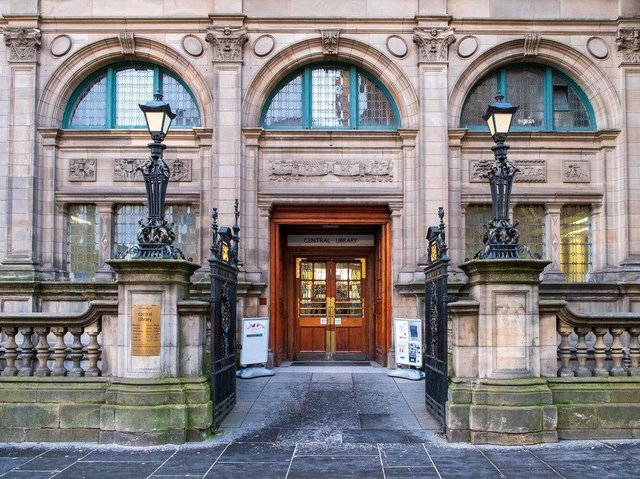 Edinburgh's central library has been among the services hit by the pandemic