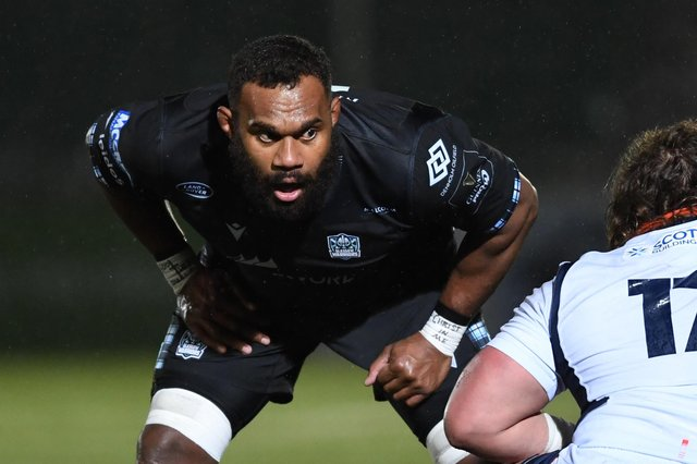 Leone Nakarawa will leave Glasgow Warriors to join Ulster in the summer. Picture: Ross MacDonald/SNS